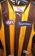 HAWTHORN - PETER KNIGHTS SIGNED  JERSEY UNFRAMED + PHOTO PROOF & C.O.A