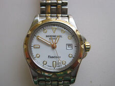 #285 ladys stainless steel and gold raymond weil flamenco watch
