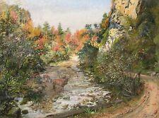 Paul Segieth 1884-1969 / Gemälde herbstliches Flusstal / Samerberg Oberbayern