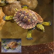 Little Turtle Floating Resin Statues Water Garden Decor Pond Figurines Outdoor