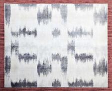 Ballard 8x10 Printed Faded ikat Handloom Tufted 100% Woolen Rugs & Carpet