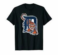 The Detroit Tigers Baseball MLB Unisex Logo Black T-Shirt For Sport Fans S-6XL