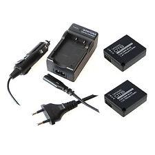 2x Akku und Ladegerät für Panasonic Lumix DMC-TZ81 DC-TZ91 DMC-TZ101