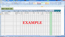 Sales Tracking Log Microsoft Excel - Digital Download Record Book Keep Ecommerce