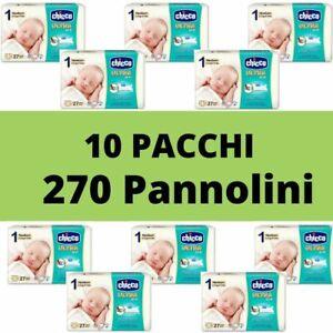 Pannolini Chicco Taglia 1 Scatola Convenienza 270 pannolini (10 pacchi da 27pz)