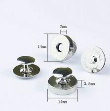 10 Stück Magnetverschluss mit Nieten Ø14mm / 4 Teilig