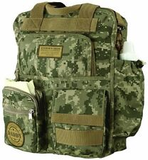 Military Daddy Mens Sporting Camo Baby Shower Macho Diaper Bag Backpack Gift
