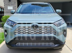 Fits 2019-2021 Toyota RAV4 chrome grille insert grill overlay trim molding