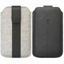 Hugo Boss Alness XL Slip Case Pouch Black Grey Universal For iPhone HTC Galaxy L