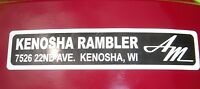 AMC Kenosha Rambler dealership emblem AMX Javelin Rambler Marlin Rebel BARGAIN