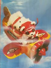Vintage 1987 Dayton Hudson Santa Bear Express Cardboard Airplane Model Kit ~ Nos