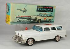 "Bandai 1956 Chevrolet Red Cross Ambulance Japan 9 3/4"" Long Near Mint With Box"