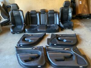 CHRYSLER 300C SRT 8 2011-2019 OEM LEATHER SUEDE SEAT SEATS DOOR PANEL PANELS 78K