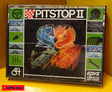 COMMODORE C64 Cassette / Datasette - PITSTOP II - EPYX - 1984