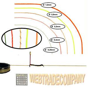 Skalenseil Schnur Dial Cord 0,25, 0,4, 0,5, 0,8, 1mm  Länge 2m, 4m, 8m reissfest