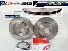 BMW E36 M3 EVO FRONT DIMPLED GROOVED BRAKE DISC DISCS BREMBO PADS SENSORS WIRES