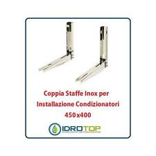 Coppia Staffe Inox 450x400 mm per installazione condizionatori. Sistema di fissa