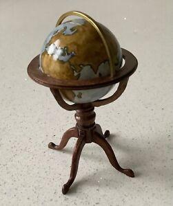 Dolls house miniature 1:12 stunning ARTISAN globe - 1999 - SIGNED