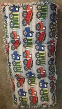 Homemade Fleece Caterpillar Bed/Chair - Construction Trucks Dump Trucks