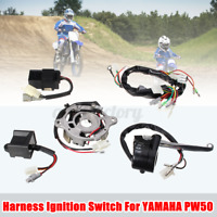 Wiring Harness Ignition Switch CDI Unit Brake Lever Coil Kit For Yamaha PW50 !