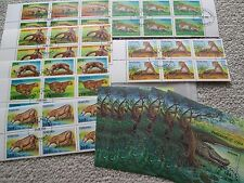 790 Pieces Africa Tanzania Stamps Sheets MNH 1993-1995 Wildlife Exotic Animals