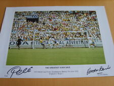 Pele and Gordon Banks Genuine Autographs - UACC / AFTAL.