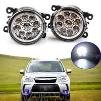 2x LED Fog Light Lamps For Mitsubishi Lancer Pajero Challenger Mirage I-Miev ASX
