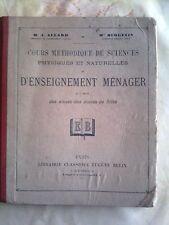 1930 Cours méthodique de sciences... et d'enseignement ménager ALLARD-BERGEVIN