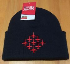 Royal Air Force  The Red Arrows   MOD  approved beanie Hat   Diamond Nine design