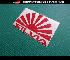 JDM LOGO SILVIA Rasing sun S15 S14 S13 CAR Decal vinyl Sticker