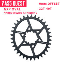 PASS QUEST SRAM GXP MTB Oval Narrow Wide Chainring Chain Ring 32T-40T 0mm Offset