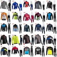2019 Breathable Cycling Jersey Bike Clothing Long sleeve shirt bib pants Set Y68
