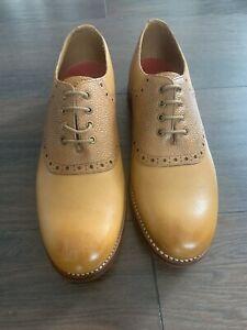 Grenson Tan Leather Womens Brogue Shoe Uk 6.5 RRP£230