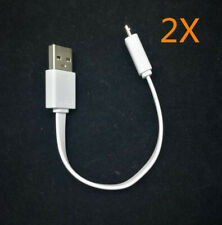 2X 16cm short ASUS Flat Noodle Micro USB Fast Quick Charging data Cable Cord