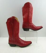 Ladies J.B Dillon Rose Leather Pointed Toe Western Cowgirl Boots Size: 7 B