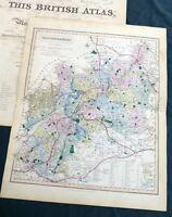 GLOUCESTERSHIRE - 1858, J.& C. Walker - Original Antique County Map.