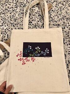 "Original Art On Canvas Bag 15""x13"""