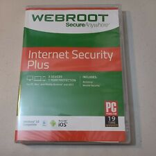 WEBROOT SecureAnywhere Internet Security PLUS - 3 Devices / 1 Year  - New!