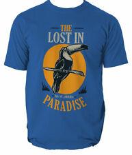 Bird lost in paradise mens t shirt S-3XL