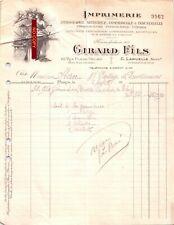 Beau Document du 05/12/1928 GIRARD Fils - Imprimerie - Paris 75