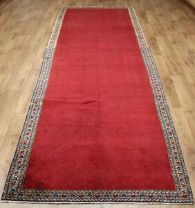 Traditional Vintage Wool 373cmX 110cm Oriental Rug Handmade Carpet Rugs