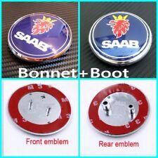 2x Saab Motorhaube vorne und hinten Abzeichen Emblem 93 9-3 95 9-5 2003-2010