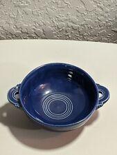 Vintage HLC Homer Laughlin Fiestaware Cobalt Blue Cream Soup Bowl
