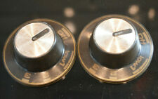 2 vintage 50s 60s stove hob oven knobs turning dial control switch brown bronze