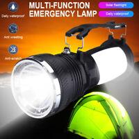 Solar Power Rechargeable Battery LED Flash Camping Tent Light Lantern Lamp US EN