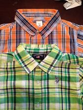 US Polo Assoc / Carter's Boys Sz. 18 Months  2 Plaid Woven Button Down Shirts