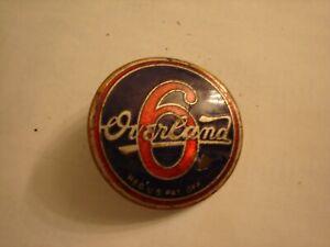 Old Original 1920s Overland 6 car emblem / Badge