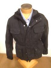 Barbour International Delta Waxed Cotton Field Jacket NWT Medium $399 Black