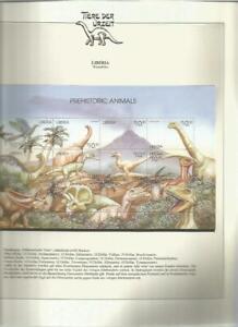 81608/ Dinosaurier Fauna Tiere ** MNH OHNE VORDRUCK LIBERIA