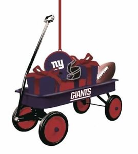 Team Sports America NFL Team Wagon Ornament New York Giants, New In Package
